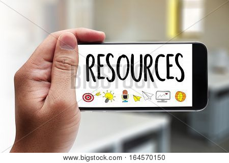 Resources And Human Resources Business Profession Graphic