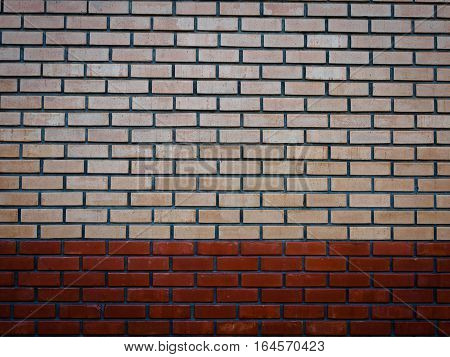 old red and yellow brick texture background
