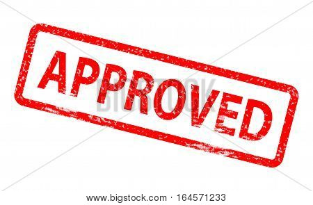 approved stamp on white background. approved stamp sign.