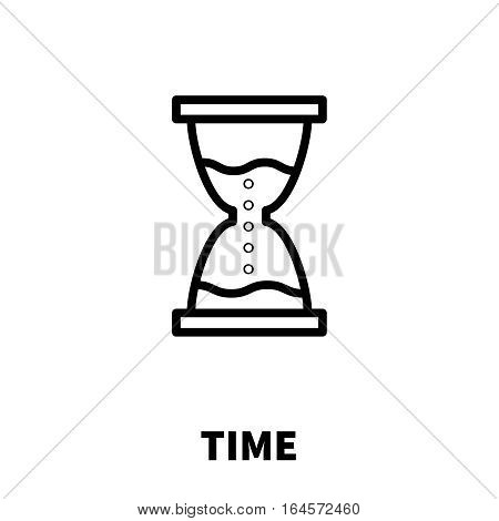 Time icon or logo in modern line style. High quality black outline pictogram for web site design and mobile apps. Vector illustration on a white background.
