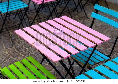 Old And Colorful Coffee Tables