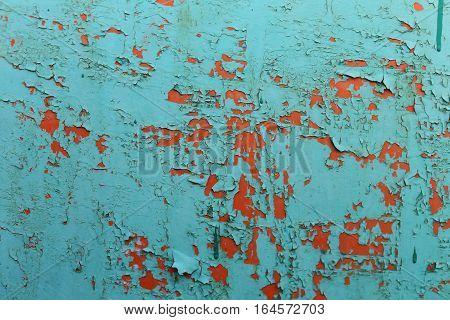 Worn rusty metal texture background, old worn paint .