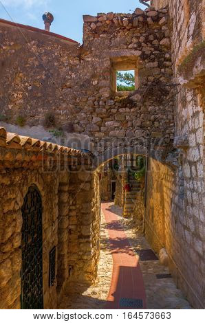 Picturesque Alley In Eze, France