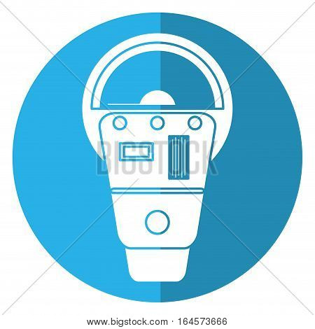 parking meter payment machine shadow vector illustration eps 10