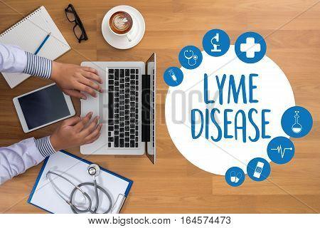 Lyme Disease Lyme Disease Or Lyme Borreliosis , Lyme Disease, Medical Concept , Patients Lyme Diseas