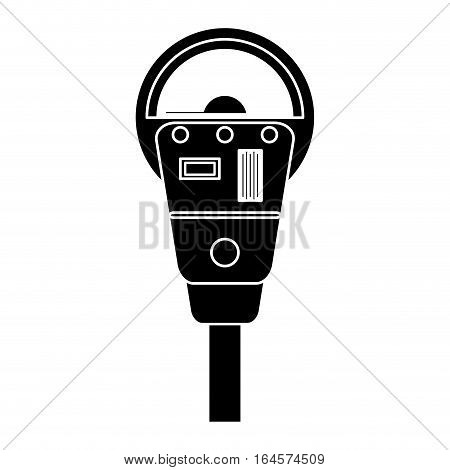 silhouette parking meter payment machine vector illustration eps 10