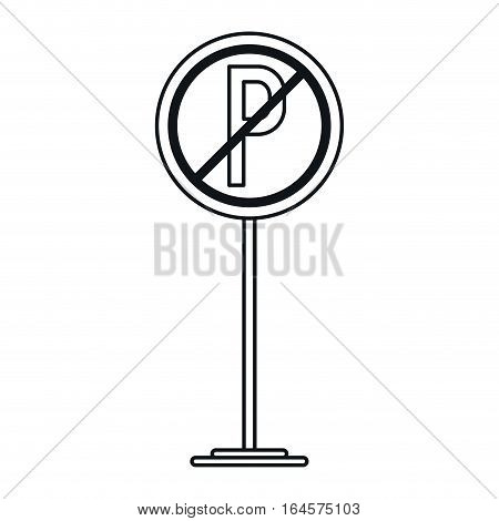 prohibited parking car sign traffic linear vector illustration eps 10
