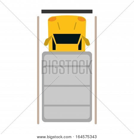 truck top view parking lot vector illustration eps 10