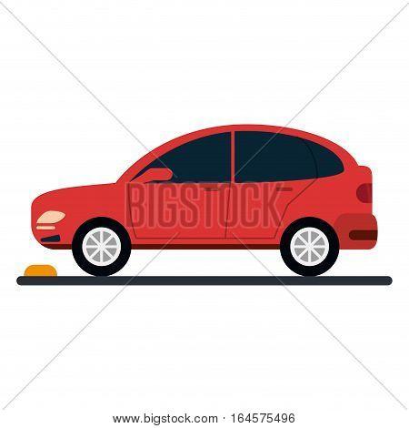 car coupe parking lot vector illustration eps 10