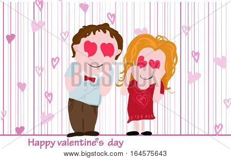 Vector postcard for Valentine's day. For your design