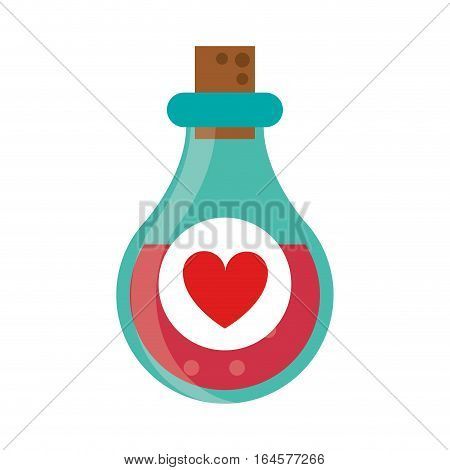 bottle elixir love potion vector illustration eps 10