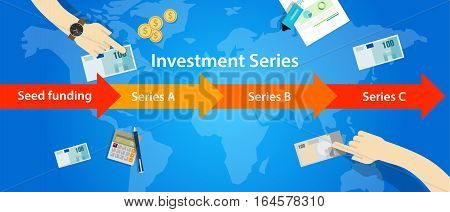 investment series round seed funding A B C start-up illustration