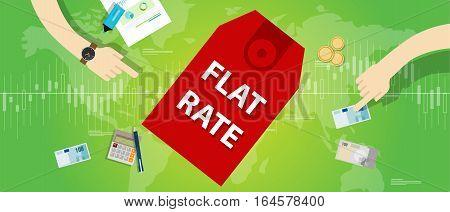flat rate interest label finance discount label price vector illustration