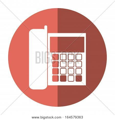 telephone communication call office shadow vector illustration eps 10