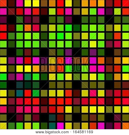 Colorful pixel cubes symmetry abstract texture background