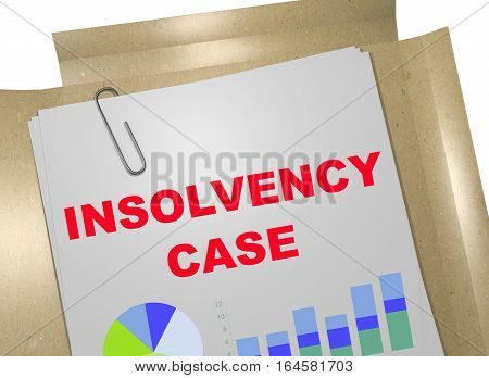 Insolvency Case - Business Concept