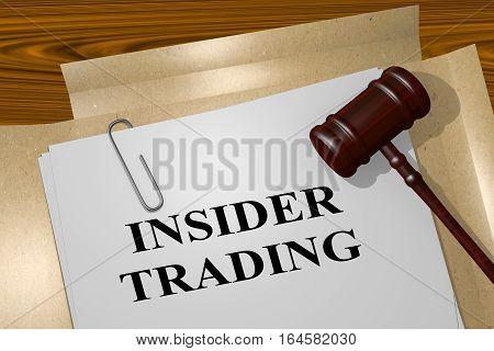 Insider Trading - Legal Concept