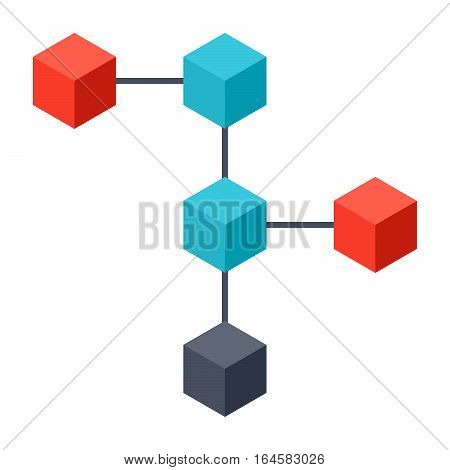 Blockchain or network of communicating nodes, record bitcoin transactions