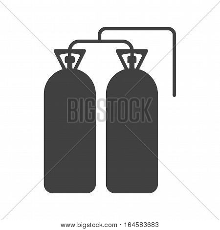 Fire, oxygen, firefighter icon vector image. Can also be used for firefighting. Suitable for web apps, mobile apps and print media.