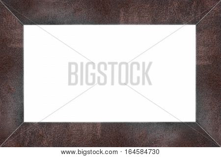 Rusty steel frame, isolated on white backgrounds