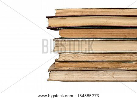 dirty old worn books, background books, yellow pages, rarity