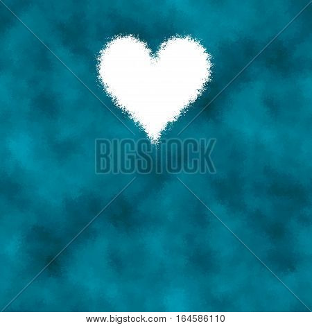 indigo blue abstract diffuse background with heart