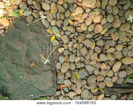 Rock and Gravel on the floor background texture
