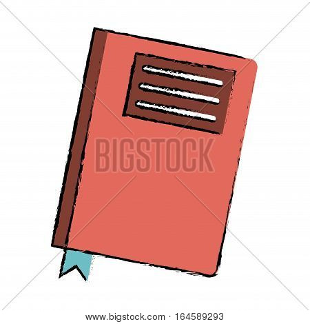 drawing book diary directory office vector illustration eps 10