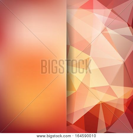 Abstract Background Consisting Of Brown, Yellow, White Triangles. Geometric Design For Business Pres