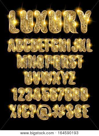 Luxury Gold Alphabet