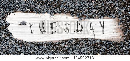 Sand on planked wood black Icelandic sand - Tuesday