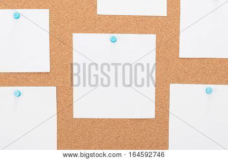Vintage Cork Board With Note Paper