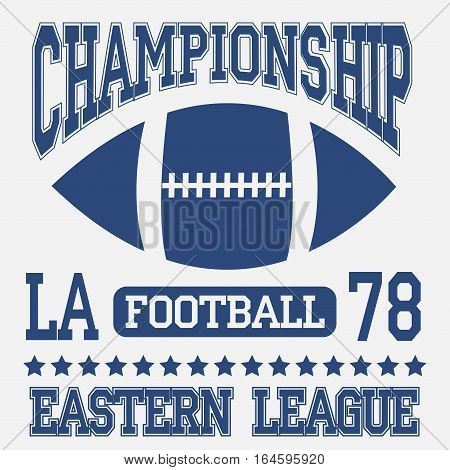 Football sport typography. Eastern league. Los Angeles - vetor