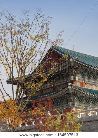 Gyeongbokgung Palace at autumn in south Korea