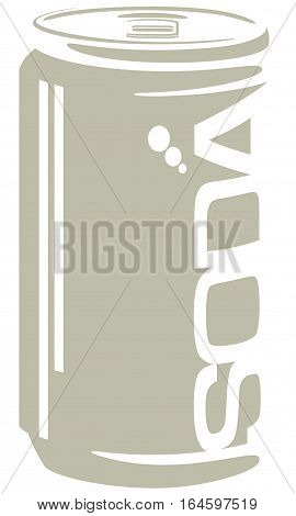 A minimal style vector graphic of a generic soda can.