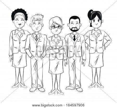 group team work experince business vector illsutration eps 10
