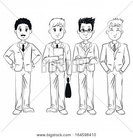group men team work business vector illsutration eps 10