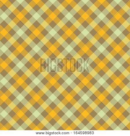 Vegetables color check plaid fabric texture seamless pattern. Vector illustration. EPS 10.