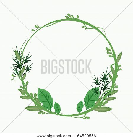 decorative crown leaves banch vector illustration eps 10