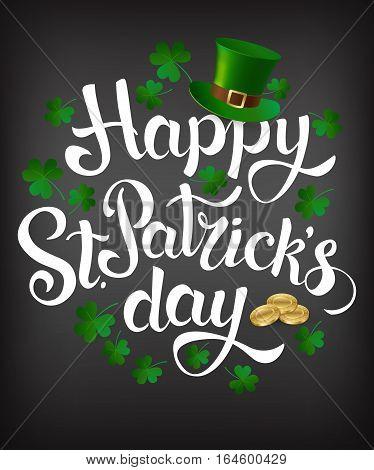 Happy St. Patrick's Day. Vector. Irish holiday.