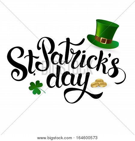 Happy St. Patrick's Day. Vector. Horizontal banner.