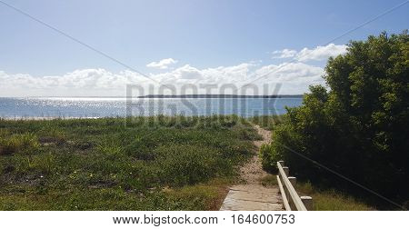Access path down to the beach at Hervey Bay