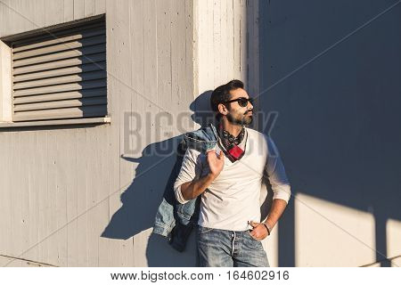 Indian Man Posing In An Urban Context.