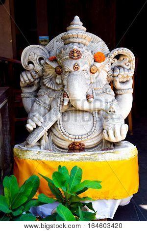 Hindu God Ganesha. Ganesha Idol. Bali, Indonesia.