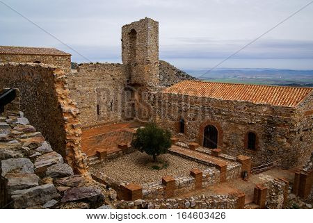 Ruins Of New Calatrava Castle Near Ciudad Real, Spain