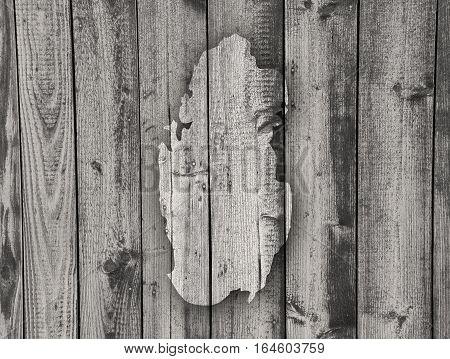 Map Of Qatar On Weathered Wood