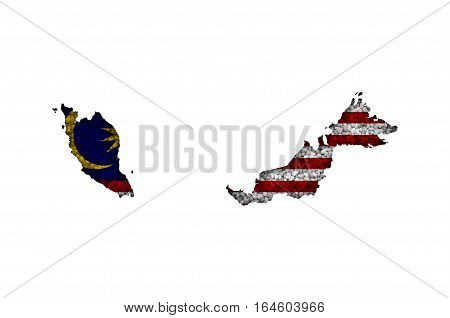 Map And Flag Of Malaysia On Poppy Seeds