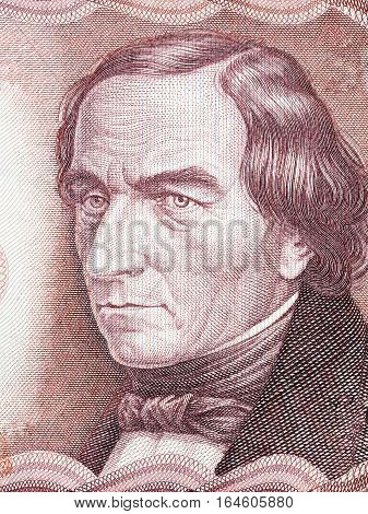 Josef Ressel portrait from Austrian money - 500 Schilling