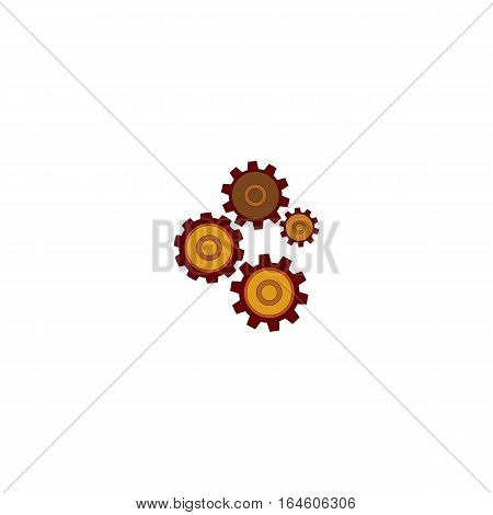 Colored Mechanizam icon isolated on a white background.