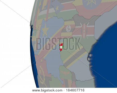 Burundi With National Flag